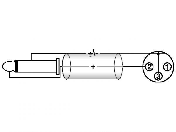 OMNITRONIC Mini XLR-Plugi-adapterikaapeli 0,8m, Mini XLR-naaras - Jack Plug 6,3mm mono, väri musta, toimii esimerkiksi instrumenttikaapelina langattomalle taskulähettimelle. AAC-09