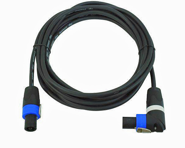 OMNITRONIC SPWI-15100 Speaker Cable, Kaiutinkaapeli SpeakON right angle connector female to female, 10m, 2x1,5mm²