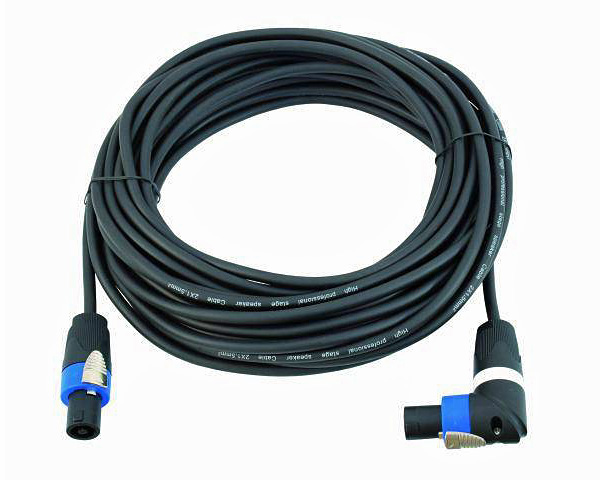 OMNITRONIC SPWI-15150 Speaker Cable, Kaiutinkaapeli SpeakON right angle connector female to female, 15m, 2x1,5mm²