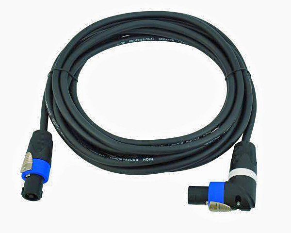 OMNITRONIC SPWI-2550 Speaker Cable, Kaiutinkaapeli SpeakON right angle connector female to female, 5m, 2x2,5mm²