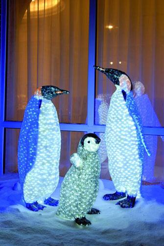 EUROLITE LED Penguin Chick, white-grey 688 LEDs