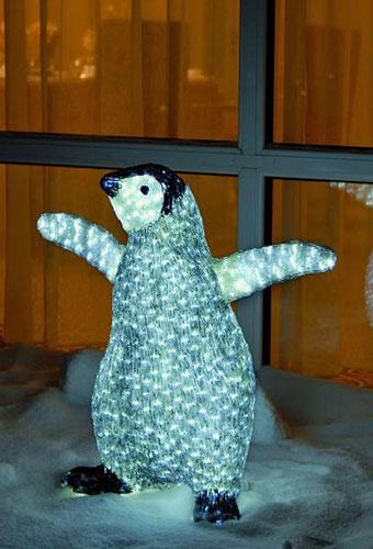 EUROLITE LED Penguin Chick, white-grey 6, discoland.fi