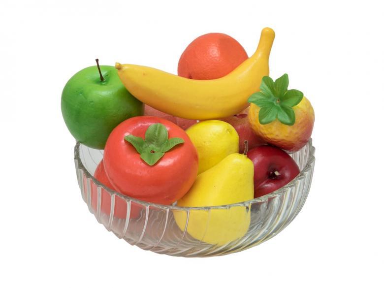 EUROPALMS 12-osainen deco-hedelmäsekoitus, eli tyylikkäitä aitoja tekohedelmiä, jotka ei helposti pilaannu. Toimitus sisältää kuljetusta varten laukun. Mukana punainen omena, vihreä omena, herkku omena, sitruuna, persikka, päärynä, appelsiini, banaani, mango, tangeriini, pomegante.
