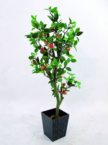EUROPALMS 150cm Mini apple tree with cementpot, Mini omenapuu omenoilla