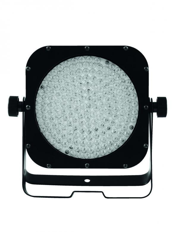 EUROLITE LED Floor SLS-183/10 RGB black 30° 20W, Chic! LED Spotlight in SlimLook! Lattiamalli! Tilaa säästävä ja helposti kuljetettava ohut LED-valaisin. Mitat 90 x 280 x 285 mm sekä paino 2,0kg.