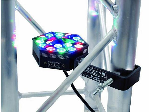 EUROLITE LED Trusslight 18x1W 24VDC, Tehokas trussivalaisin jota voi käyttää myös muuhun valaistukseen!