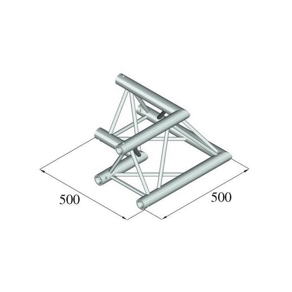 ALUTRUSS TRILOCK 2-tie kulmapala 90° 6082AC-21 kolmiputkinen pikalukittava trussi, ulkomitat 290 x 290 x 290 mm sekä paino 8,0kg.