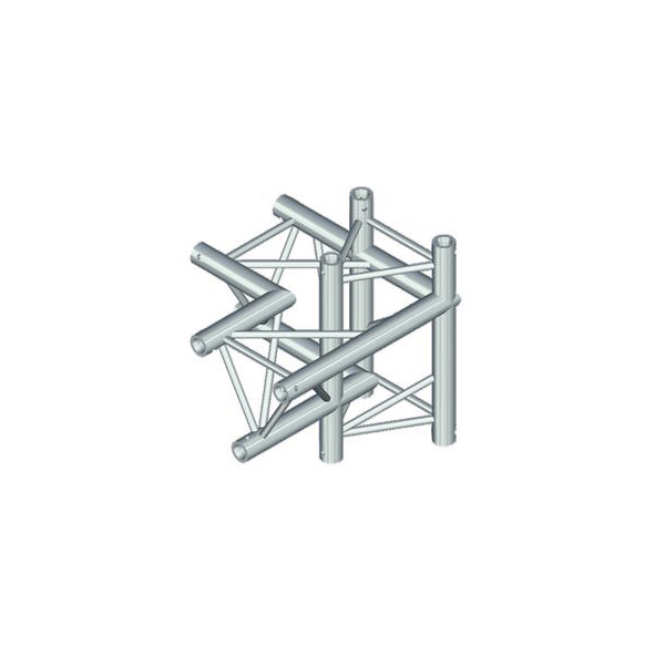 ALUTRUSS TRILOCK 4-tie risteyspala \/ vasen 6082AC-44. 4-way cross piece