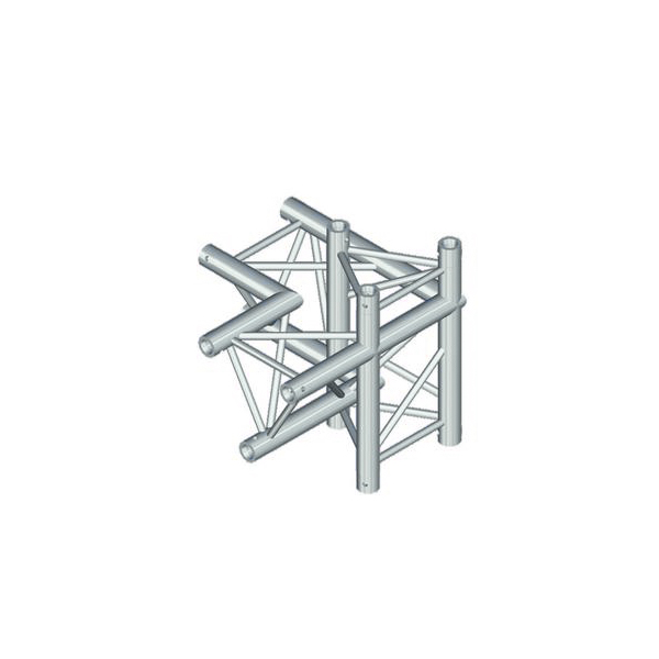 ALUTRUSS TRILOCK 4-tie risteyspala \/ oikea 6082AC-45. 4-way cross piece