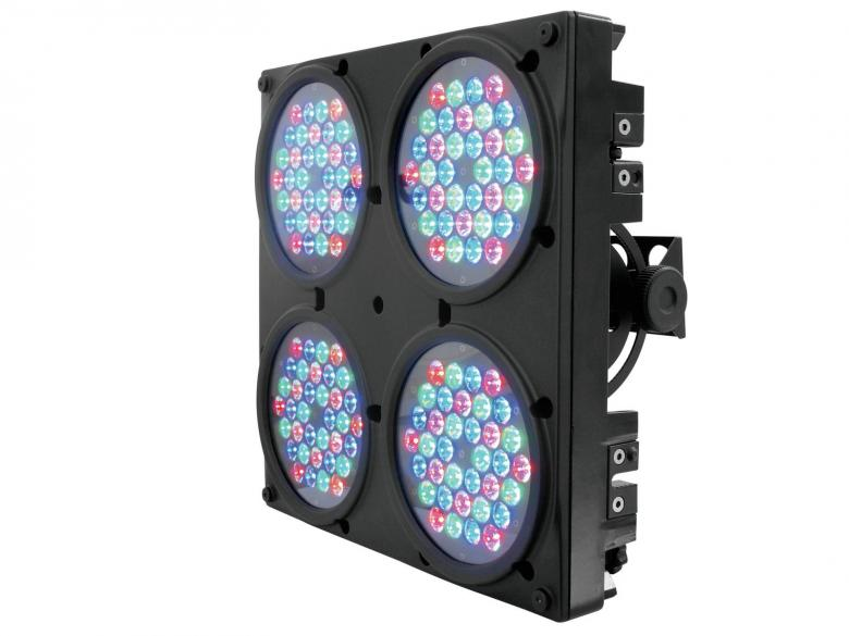 EUROLITE LED EXT-Blinder IP65. Huipputehokas Audience Blinder 4x 36x 1W IP65 15°. Äijävalo, 128 x 1W LEDIä häikäisee isommankin stagen. Soveltuu myös ulkokäyttöön.