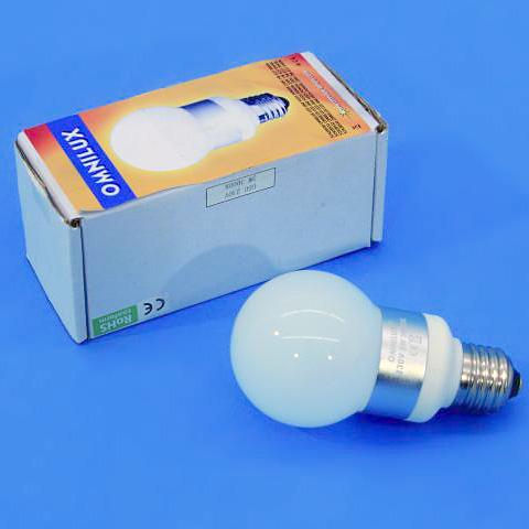 OMNILUX LED-lamppu G60 230V 3W E27 6400K, discoland.fi
