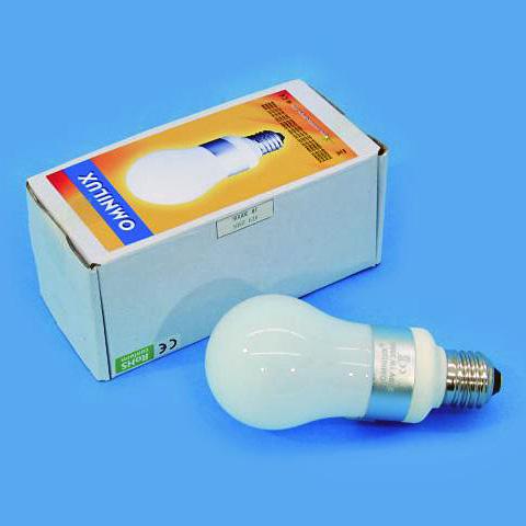 OMNILUX LED-lamppu A19 230V 1W E27 6400K, discoland.fi