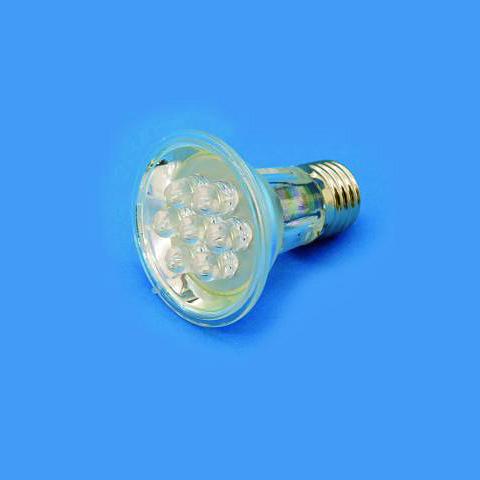 OMNILUX PAR-20 230V E27 7x 10mm LED blue, discoland.fi