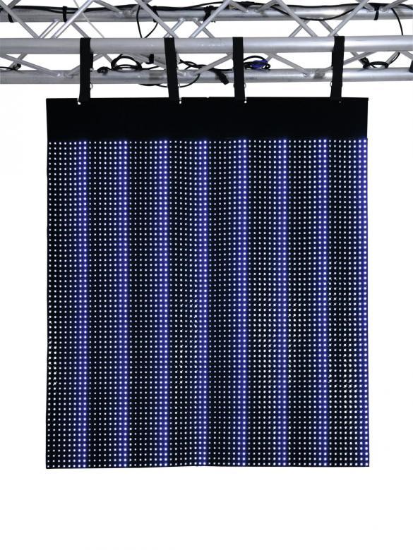 EUROLITE LSD-37.5 MK2Taipuisa LED-paneeli, jolla voit näyttää videoita ja muodostaa upeita näyttö ja valaistus kokonaisuuksia, saadaan useissa eri mitoissa, voidaan kytkeä useita yhteen! Flexible LED display panel 2,4m x 1,2m IP44!  Flexible LED display panel 2,4m x 1,2m IP44