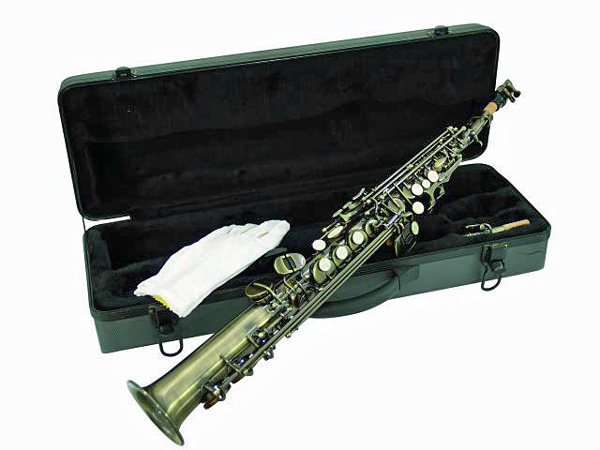 DIMAVERY SP-10 Bb Sopraanosaksofoni antiikki. Soprano Saxophone, Antique