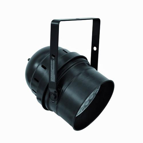 EUROLITE LED PAR-64 RGB DMX-ohjattava LED-heitin 5-kanavaa, RGB multivärit miksattavissa, Automatiikalla voi säätää värien feidaus aikaa, Sisäänrakennettu mikrofoni, Master ja slave toiminne yhdenmukaiseen vaihtoon! LED Spot short 36x 1W 22° 90W black, Professional LED spot in LED DMX format!
