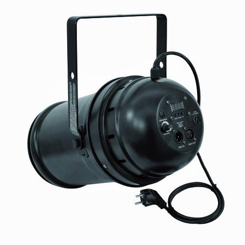 EUROLITE LED PAR-64 TCL valonheitin 18x 3W 22° 125W musta. Vastaa 500W:n halogeenia! Professional LED spot in LED DMX format
