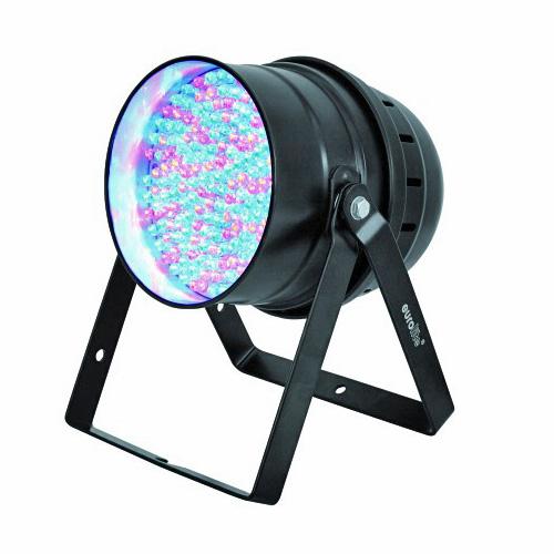 EUROLITE LED PAR-64 valonheitin RGBA floor 177x 10mm LEDs 36°. DMX-ohjattava LED-PAR-valonheitin 5-kanavaa, RGB-multivärit miksattavissa. Automatiikalla voi säätää värien feidaus aikaa, sisäänrakennettu mikrofoni, master & slave, 27W, musta. Lattiamalli