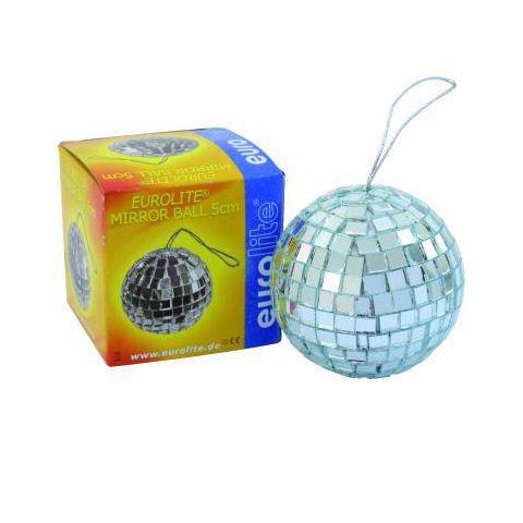 EUROLITE 5cm Peilipallo, eli discopallo, ripustuslenkillä. Styroksiydin ja pakattu värilleseen laatikkoon.