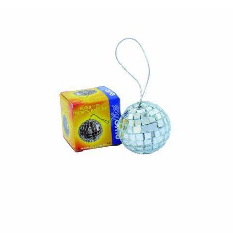 EUROLITE 3cm Peilipallo, eli discopallo, ripustuslenkillä. Minikokoinen peilipallo vaikka auton taustapeiliin.