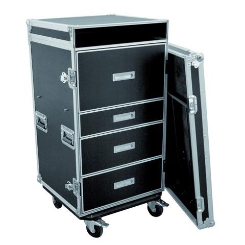 ROADINGER Kuljetuslaatikko vetolaatikostolla, pöydällä ja wheel boardilla yleiskäyttöön.