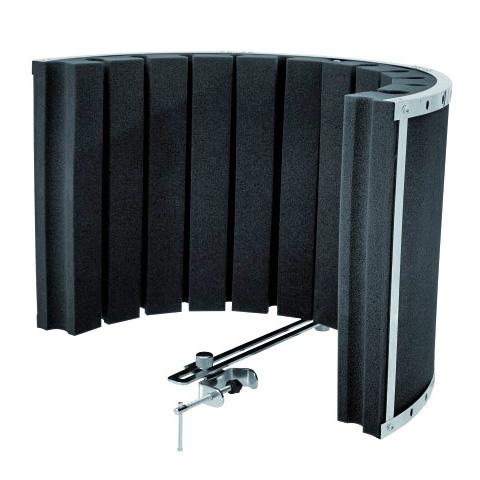 OMNITRONIC Mikrofonin vaimennusdiffuusori studiokäyttöön, oiva valinta kotistudioon! Microphone absorber system AS-01 black 310 x 450 x 320 mm