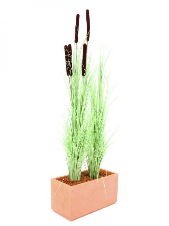 EUROPALMS 127cm Koristeruoho, väri vaaleanvihreä