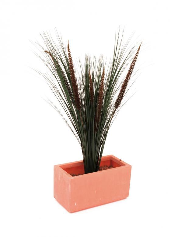 EUROPALMS 96cm Sulkahirssi ruskeilla tertuilla ja koristeruoholla, erittäin aidon oloinen.