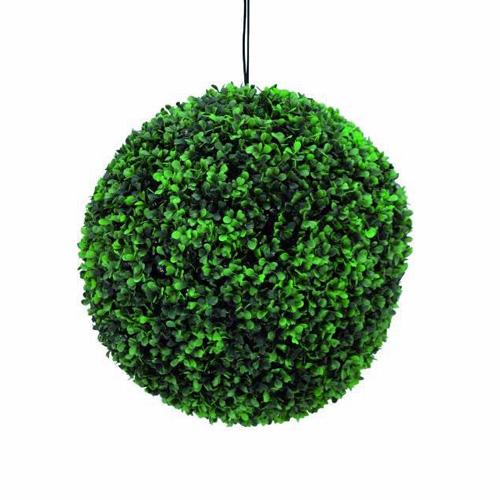 EUROPALMS 40cm Puksipuupallo LEDeillä, väri vihreä. On niin aidon oloinen, että haluaisit kastella sitä. IP44