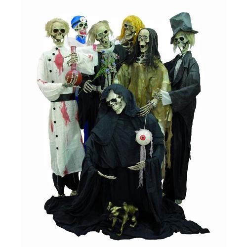 EUROPALMS Halloween hahmo paha tohtori 160cm jalustalla.