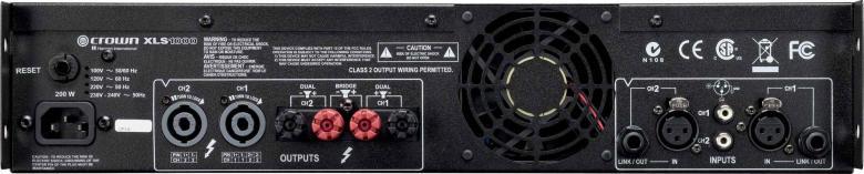 CROWN XLS-1000 Amplifier 2x 350W 4ohms, 2x 550W 2ohms, Ultrakevyt XLS DriveCore päätevahvistin. Sisäinen säädettävä jakosuodin ja huippulimitterit. Ultrakevyt; paino vain 3,9kg. XLS DriveCore on kokonaan uusi D-luokan vahvistinsarja edulliseen hintaluokkaan.