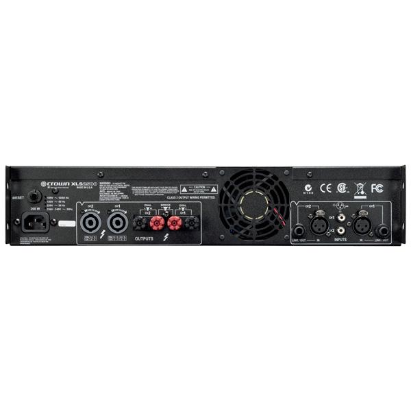 CROWN XLS-2500 amplifier 2x 775W 4ohms, 2x 1200W 2ohms, Ultrakevyt XLS DriveCore päätevahvistin. XLS DriveCore on kokonaan uusi D-luokan vahvistinsarja edulliseen hintaluokkaan. Sisäinen säädettävä jakosuodin ja huippulimitterit. Ultrakevyt; paino 3,9kg-4,9kg
