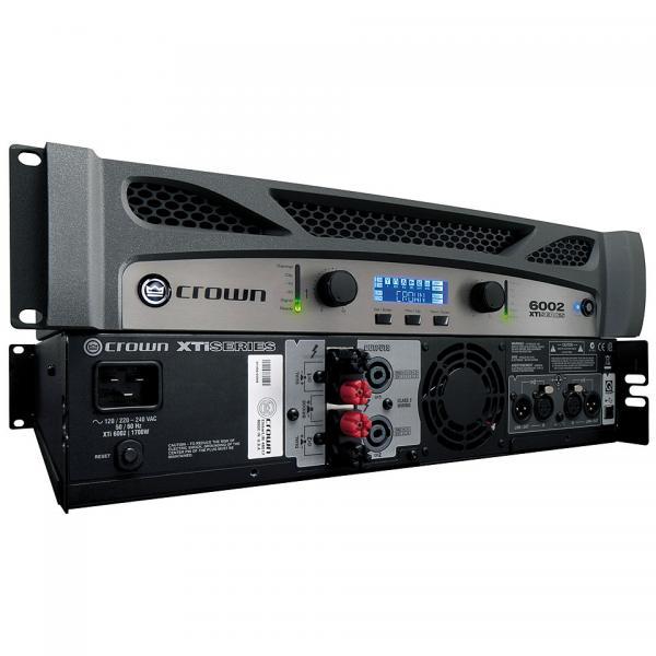 CROWN XTI-6002 DSP päätevahvistin 2x 2100W 4ohms, 2x 3000W 2ohms. CROWN XTi Series soveltuu erinomaisesti uuden sukupolven kompakteille PA-kaiuttimille, kuten JBL VRX900 Line Array- ja SRX700- sarjat. Vahvistimen sisäänrakennetussa DSP:ssä on kaikki tarpeelliset työkalut PA:n viritykseen jakosuodin, EQ,limitointi ja vaiheistusviive. Lisäksi DBX:n patentoitu Subharmonic Synthesizer-toiminto mahdollistaa bassotoiston virityksen oktaavin alemmas esim. diskosovelluksiin.