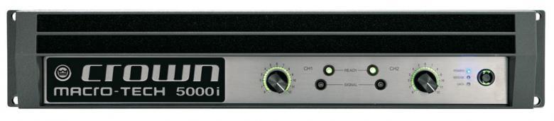 CROWN MA-5000i Päätevahvistin 2x2000W kovaan käyttöön amplifier 2x 2000W 4ohms, 2x 2500W 2ohms, 2x 1250W 8ohms, Power amplifiers for touring sound, HiQnet , 12,7kg
