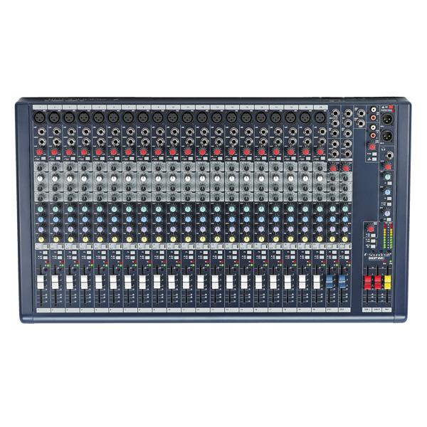 SOUNDCRAFT MPMi 20 PA mikseri 20 mono- mikrofonikanavaa sekä  2 stereotulokanavaa.Uudistunut monikäyttömikseri 12- ja 20 monokanavaiset mallit Molemmissa malleissa monokanavien lisäksi: 2 stereo tulokanavaa,  2 ryhmää, 3 AUX-lähtöä. Tukeva rakenne ja kiinnityspiste Kensigton lukolle. 12-kanavaisessa mallissa räkkiraudat mukana.