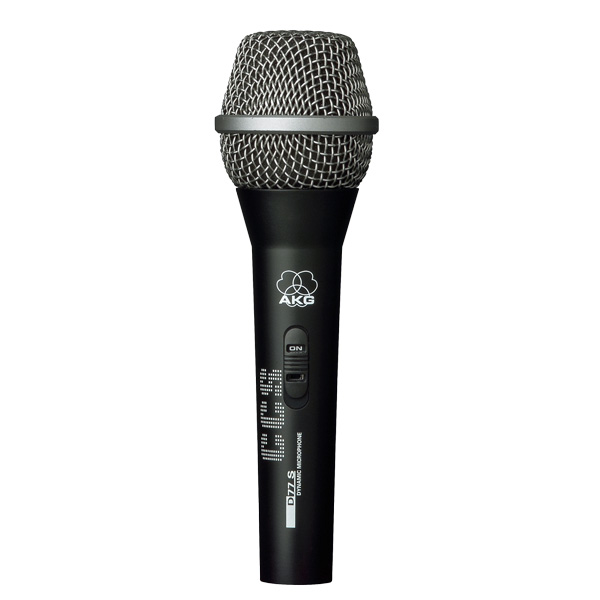 AKG D 77 S Jack Dynamic microphone for backing vocals and instruments, Dynaaminen mikrofoni taustalauluihin ja instrumenteille