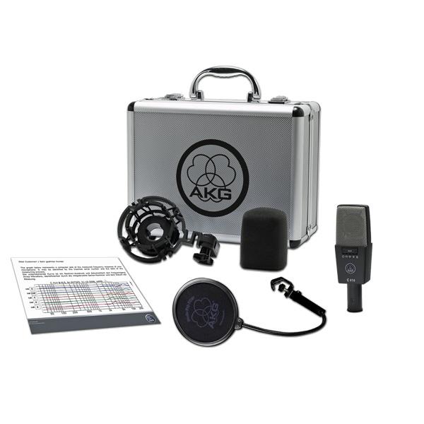 AKG C414 XLS studiomikrofoni suurikalvoinen. Large-diaphragm condenser microphone for universal applications, Legendaarisen kondensaattori suodiomikrofonin uusi versio