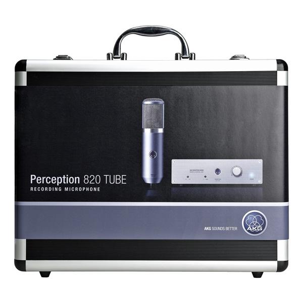 AKG Perception 820 Tube, Putkimikrofoni studiokäyttöön, ECC83 dual-triodi, 9 suuntakuviota, Low Cut, -20dB Pad, max. SPL 155dB - sis. shockmountin ja kotelon.
