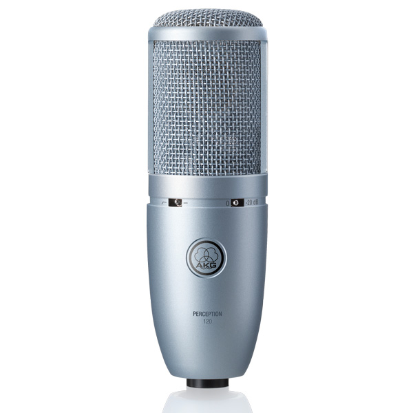 AKG Perception 120 Studiotason yleisäänitys mikrofoni. Universal recording microphone with  large 2/3