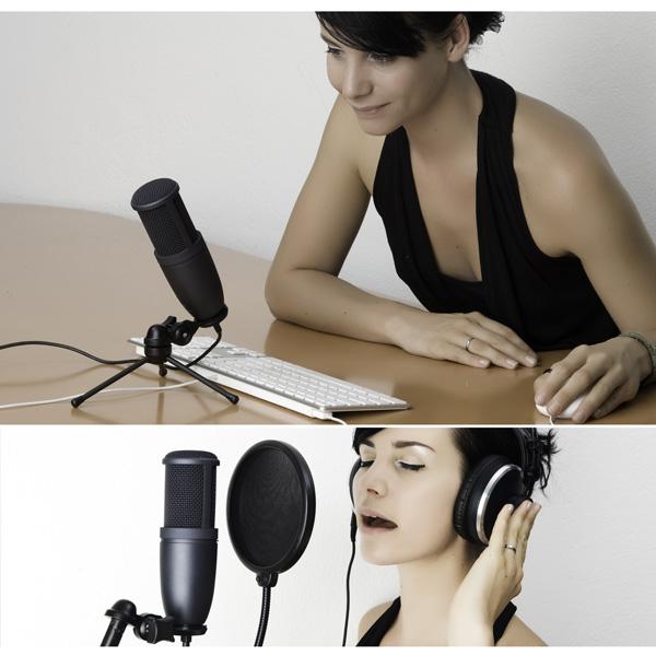 AKG Perception 120 Studiotason yleisäänitysmikrofoni USB liitännällä. USB Universal recording microphone with USB connection for Plug & Play Recording,  large 2/3