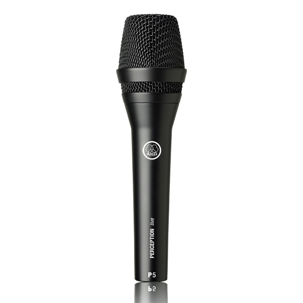 AKG Perception Live P5, Dynaaminen laulu- ja soitinmikrofoni. Perception Rugged performance microphone designed for backing vocals and Instruments. Polar pattern supercardioid´, Frequency range	40 to 20,000 Hz, Sensitivity 2.5 mV/Pa, Max. SPL	144 dB SPL.