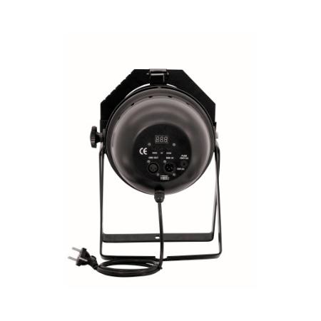 EUROLITE LED PAR-64 RGB Spot Short with 24x 5W LEDs, 22°, Floor black. LED-valoheitin 24x 5W:n LEDeillä, Lattiamalli musta, Tehokas!