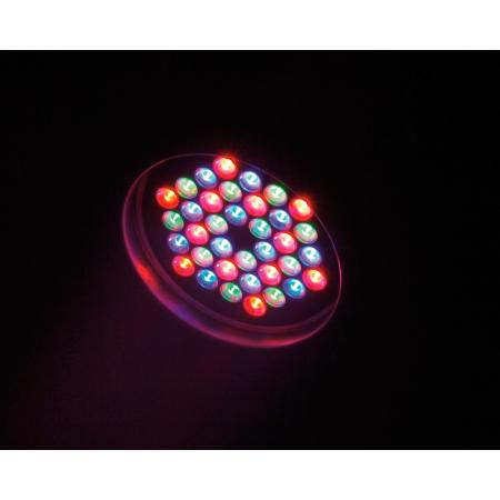 EUROLITE LED PAR-56 valonheitin RGB Spot Long 15° 36x 3W LEDiä, musta. Toistaiseksi tehokkainen LED PAR-56 valonheitin 36x 3W:n LEDillä, tykki!