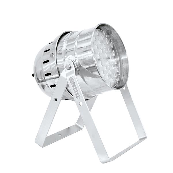 EUROLITE LED PAR-64 Floor 36x 1W LEDs 22° PRO-spot 90W, alu, DMX or Sound-Control, Lattiamalli