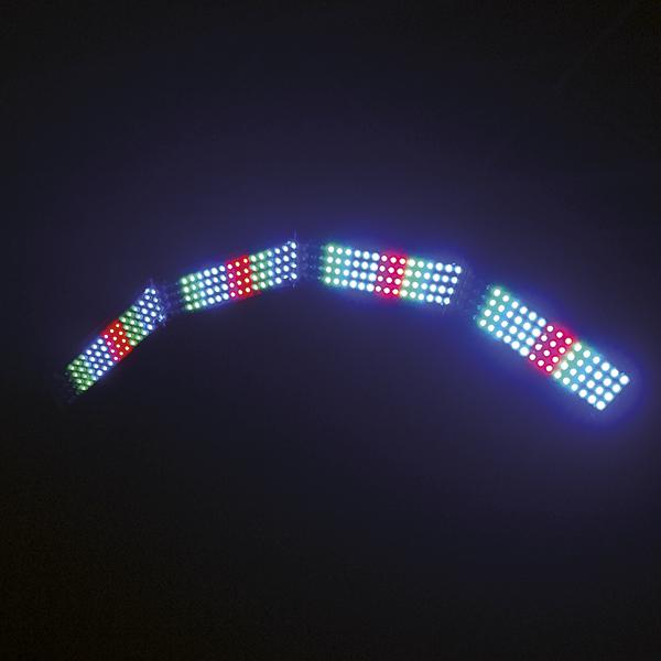 EUROLITE LED-kaaripalkki. Tavallisuudesta poikkeavaa muotoitua. Bow Bar 288/4 MCL. Unusual design, powerful performance!