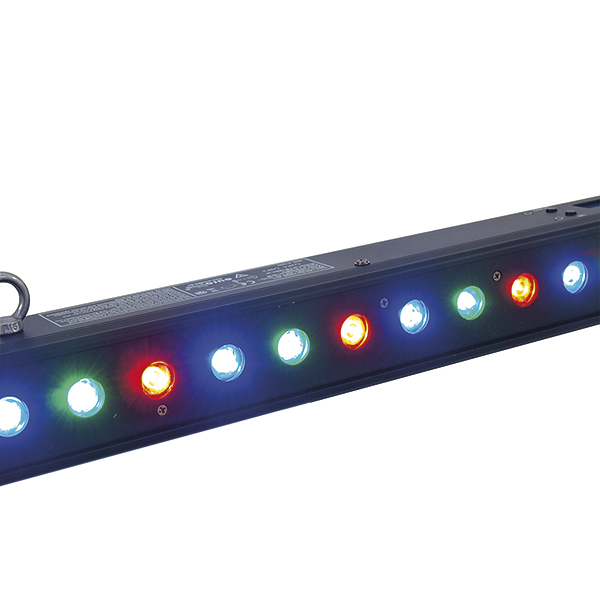 EUROLITE LED BAR-27 RGB LED-palkki 27x 1W 12°, mitat 1070 x 65 x 90 mm, paino 3,0kg.