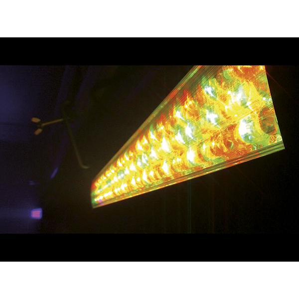 EUROLITE LED BAR-126 LED-palkki, 126x 10mm LEDiä 40°, LED-toimintanäyttö ja ohjauspaneeli palkin takana, staattiset värit, RGBA-värisekoitus, sisäänrakennetut ohjelmat, himmenin ja strobe asetukset DMX:n kautta, musiikkiohjaus, DMX-ohjaus tai stand-alone, master/slave.