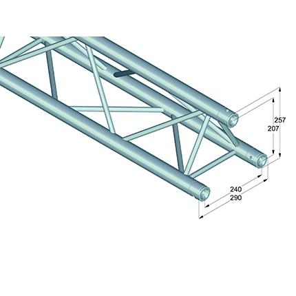 ALUTRUSS TRILOCK trussi E-GL33 1000. Straight 3-point truss 1000mm