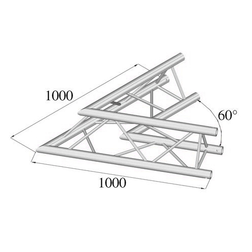 ALUTRUSS TRILOCK 2-tie kulmapala 60° E-GL33 C-20. 2-way corner piece