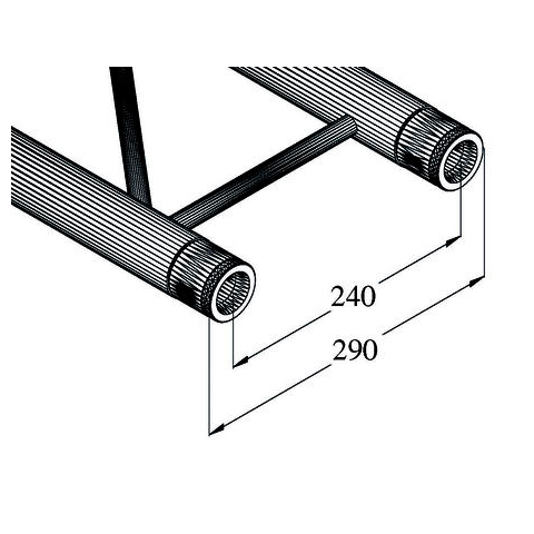ALUTRUSS BILOCK trussi BQ2-290. Straight 2-point truss 290mm